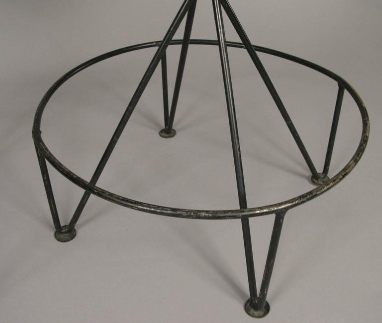 Mid-Century Modern Set of Three Mid-Century Iron Barstools For Sale