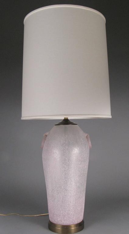 Pair Of Vintage Etruscan Glass Lamps By Chapman For Sale
