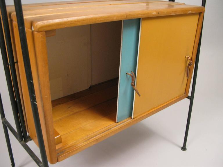 rare vintage 1950s etagere bar cabinet by arthur umanoff. Black Bedroom Furniture Sets. Home Design Ideas