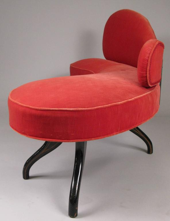 Sculptural 1940s Curved Settee In Good Condition For Sale In Hudson, NY