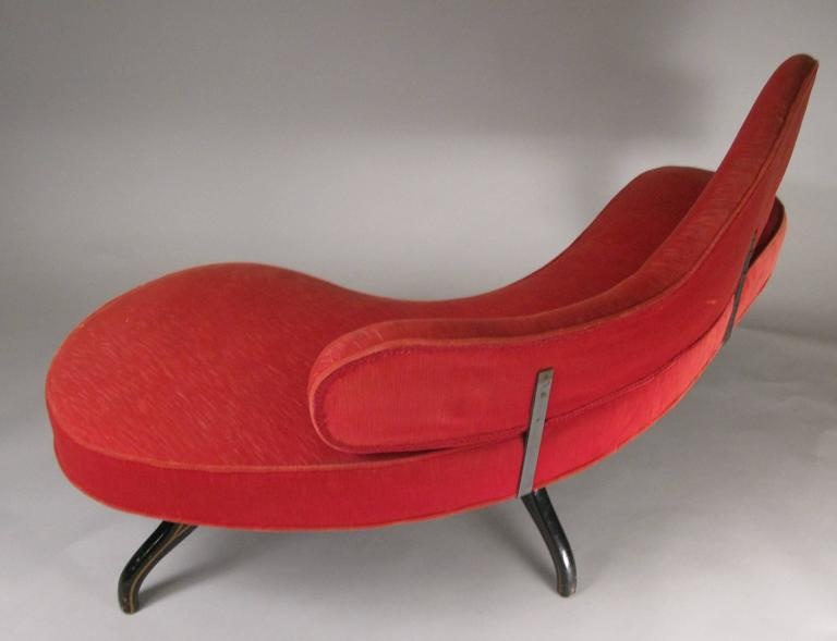 Sculptural 1940s Curved Settee For Sale 1