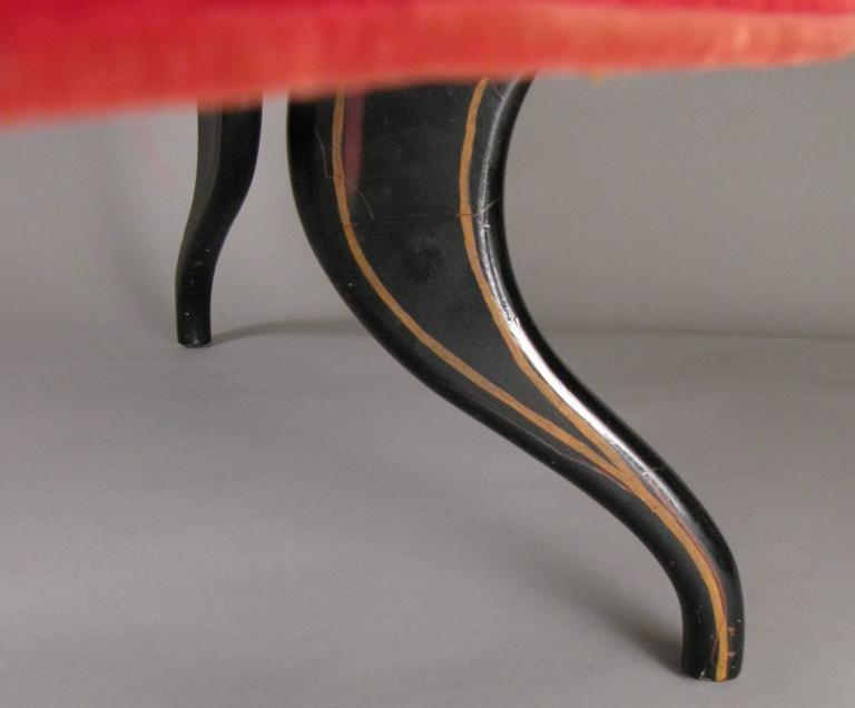 Sculptural 1940s Curved Settee For Sale 4