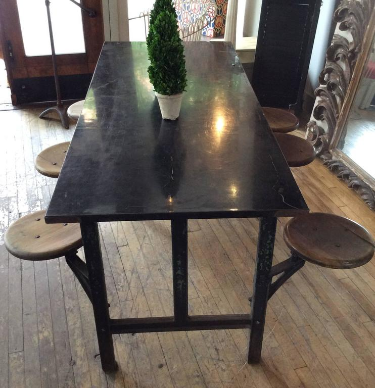 Antique Industrial Cast Iron Dining Table with Swing Out  : 3l from www.1stdibs.com size 742 x 768 jpeg 76kB