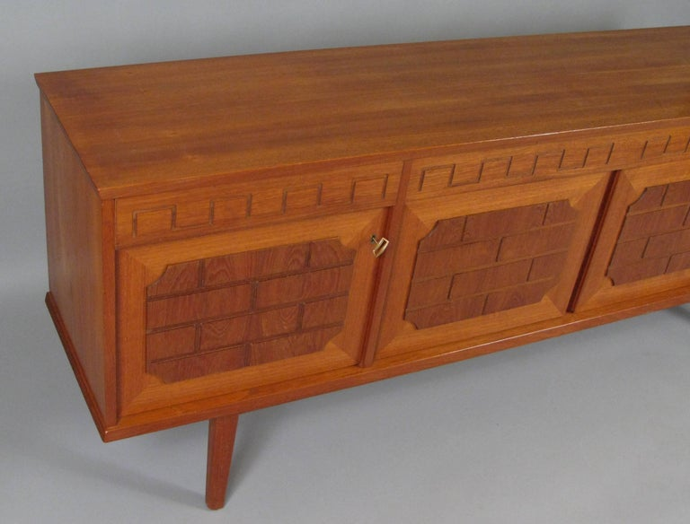 Danish Mid Century Teak And Walnut Sideboard Cabinet At 1stdibs