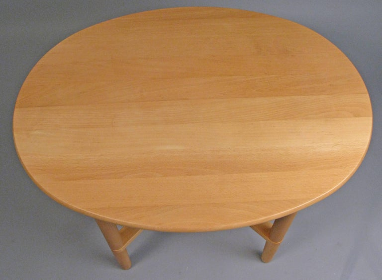 Pair of Oval Danish Tables by Haslev For Sale 1