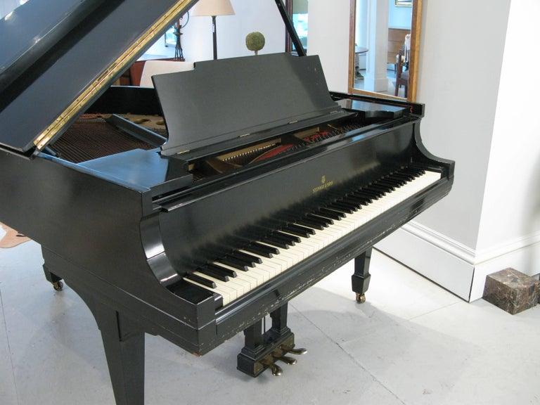 Steinway & Sons 1912 Model M Ebony Piano For Sale 2