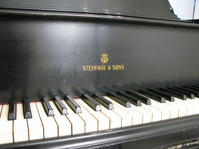 Steinway & Sons 1912 Model M Ebony Piano For Sale 6