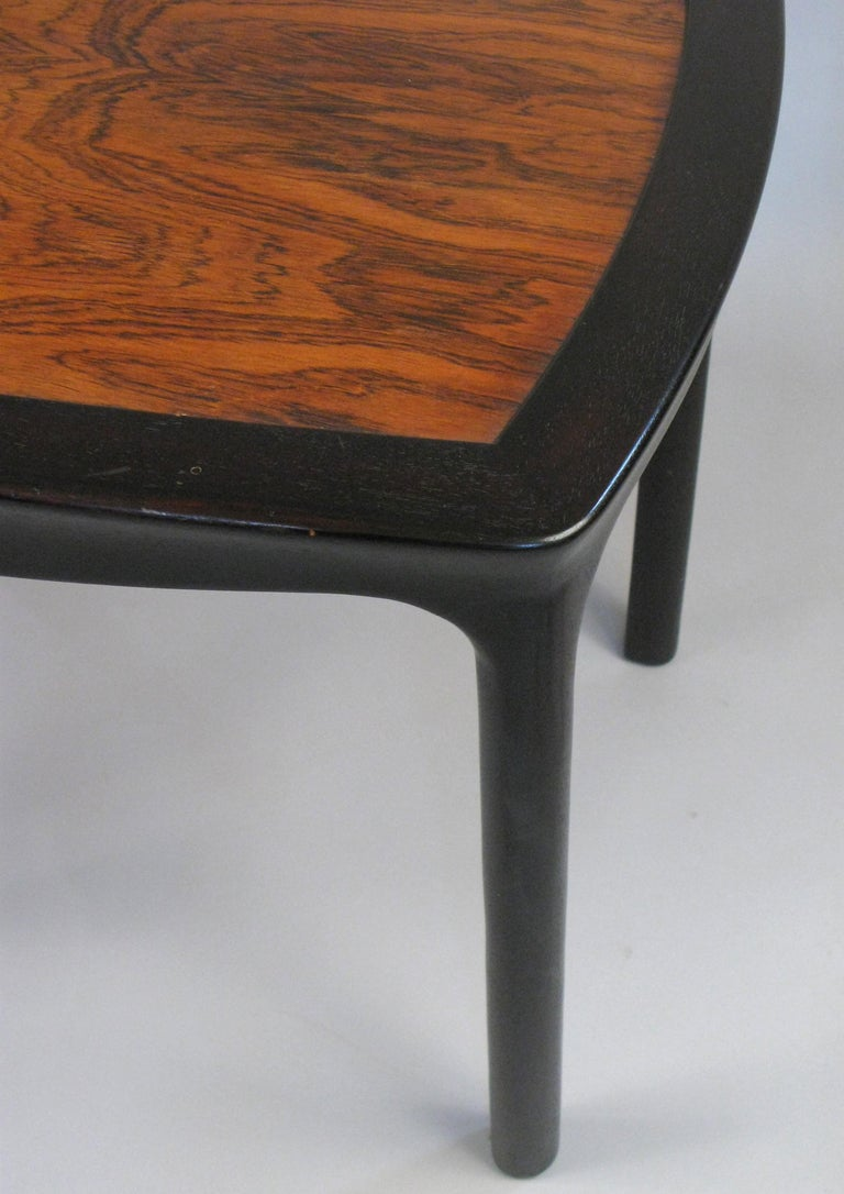 American Vintage Mahogany and Rosewood Table by Edward Wormley for Dunbar For Sale