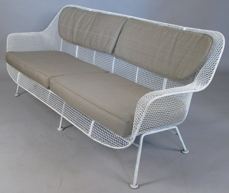 American 1950s Russell Woodard 'Sculptura' Sofa and Pair of Lounge Chairs For Sale