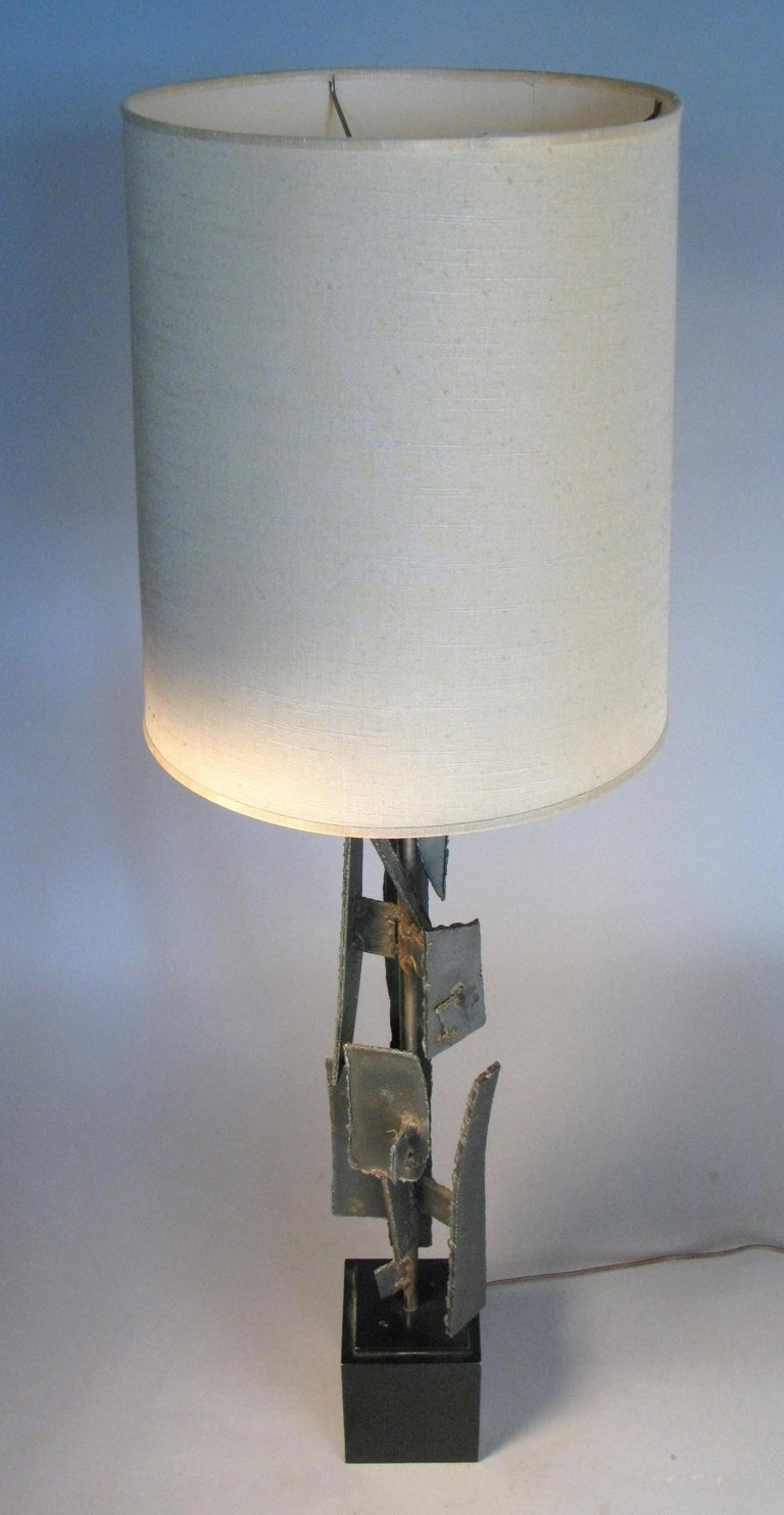 American Iron and Steel 1960s Table Lamp by Harry Balmer For Sale