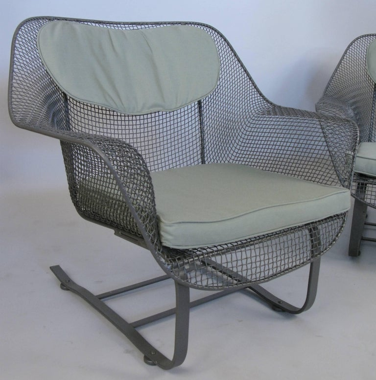 Mid-20th Century Pair of Russell Woodard 1950s Sculptura Lounge Chairs For Sale