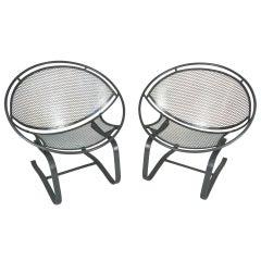 Set of Four Vintage Salterini 'Radar' Lounge Chairs