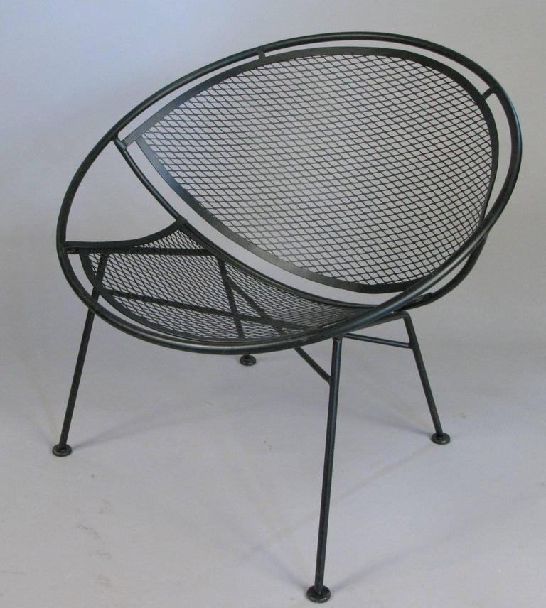 Mid-Century Modern Pair of Salterini 'Radar' Collection Lounge Chairs by Tempestini For Sale