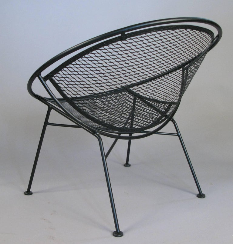 Mid-20th Century Pair of Salterini 'Radar' Collection Lounge Chairs by Tempestini For Sale