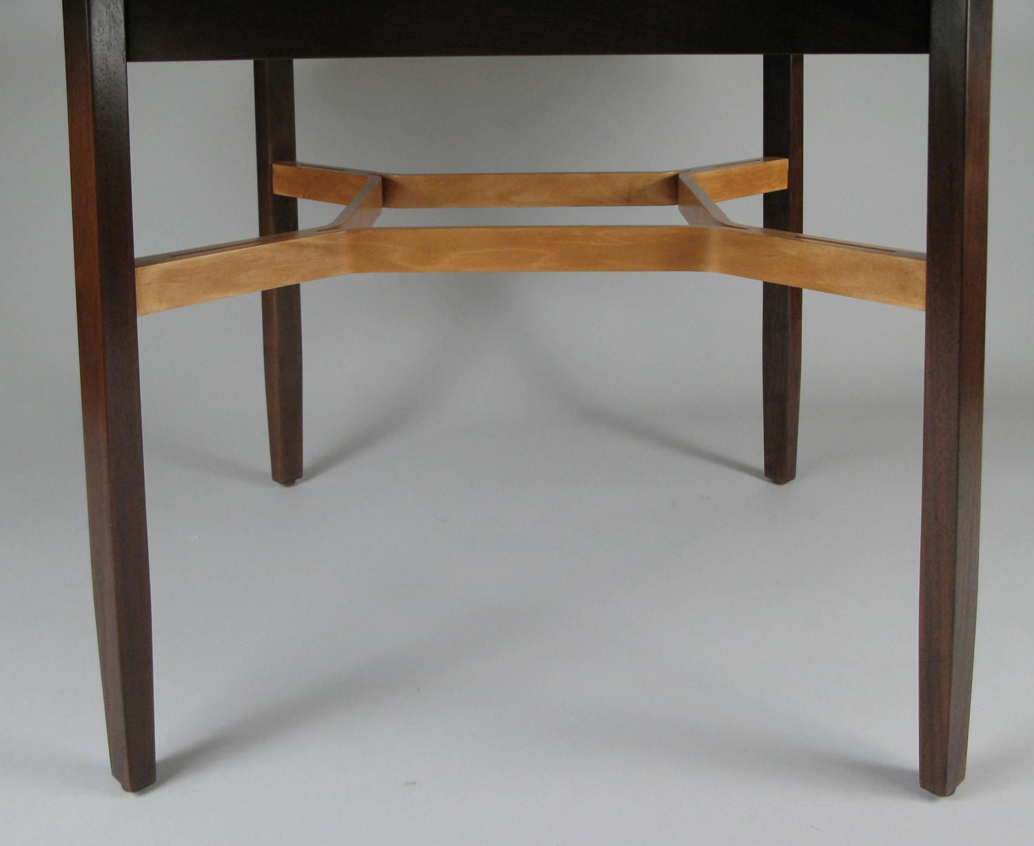 walnut and birch dining table by lewis butler for knoll at 1stdibs