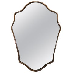 Old Italian Shield Mirror
