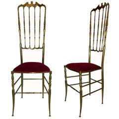 Pair of Chiavari High Back Chairs