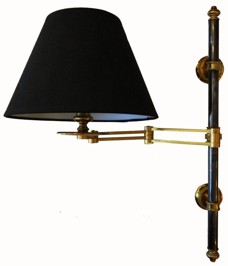 Pair of French Maison Jansen Retractable Wall Sconces, 3 pairs Available  In Good Condition In Miami, FL