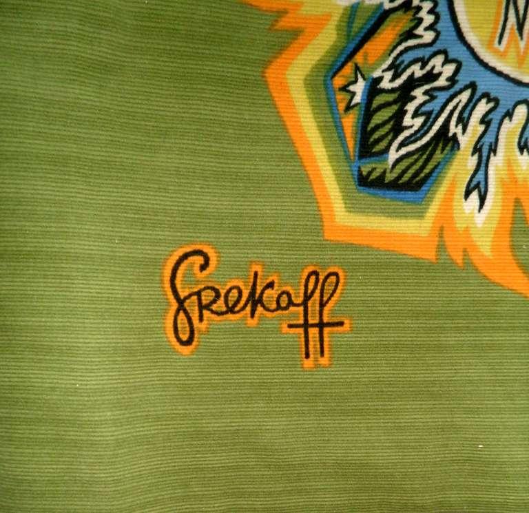 Signed Zodiac Grekoff tapestry