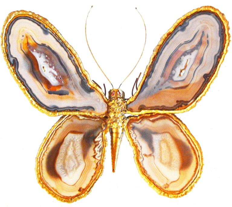 Bronze Butterfly Sculpture by Jacques Duval-Brasseur For Sale 1