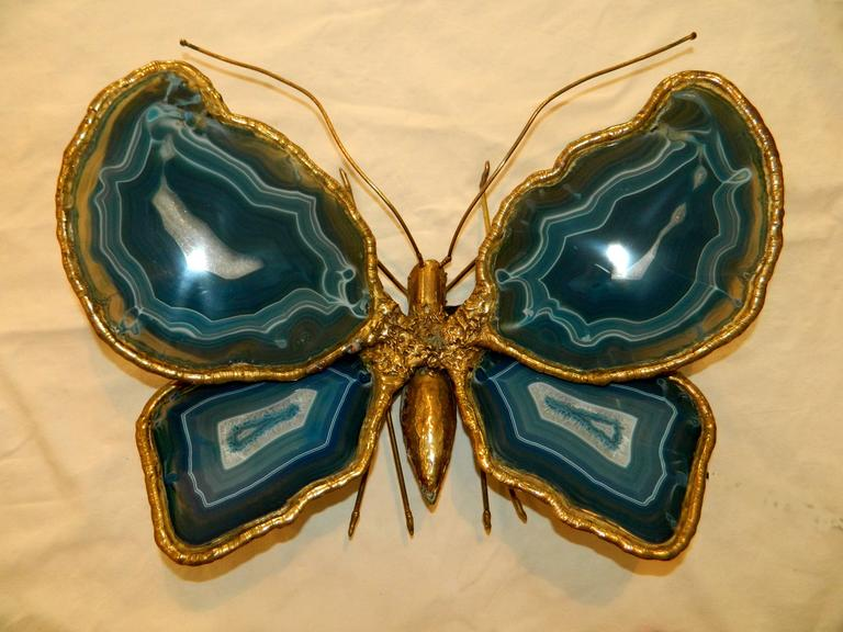 Bronze Butterfly Sculpture by Jacques Duval-Brasseur For Sale 2