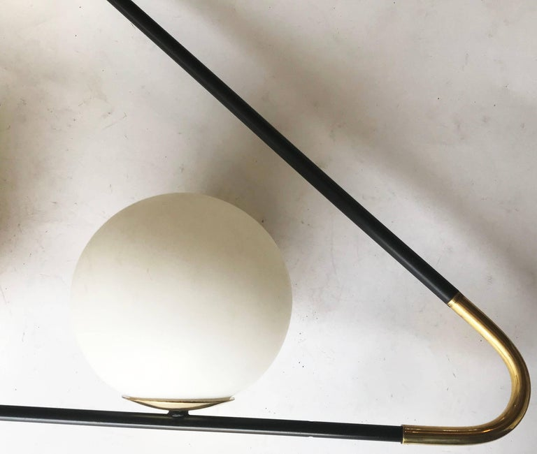 Superb Lunel sconce or chandelier,  three light , 40 watts max bulb  US Rewired and in working condition.