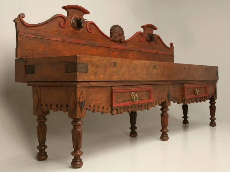 Magnificent 19th Century French Double Butcher Block 2