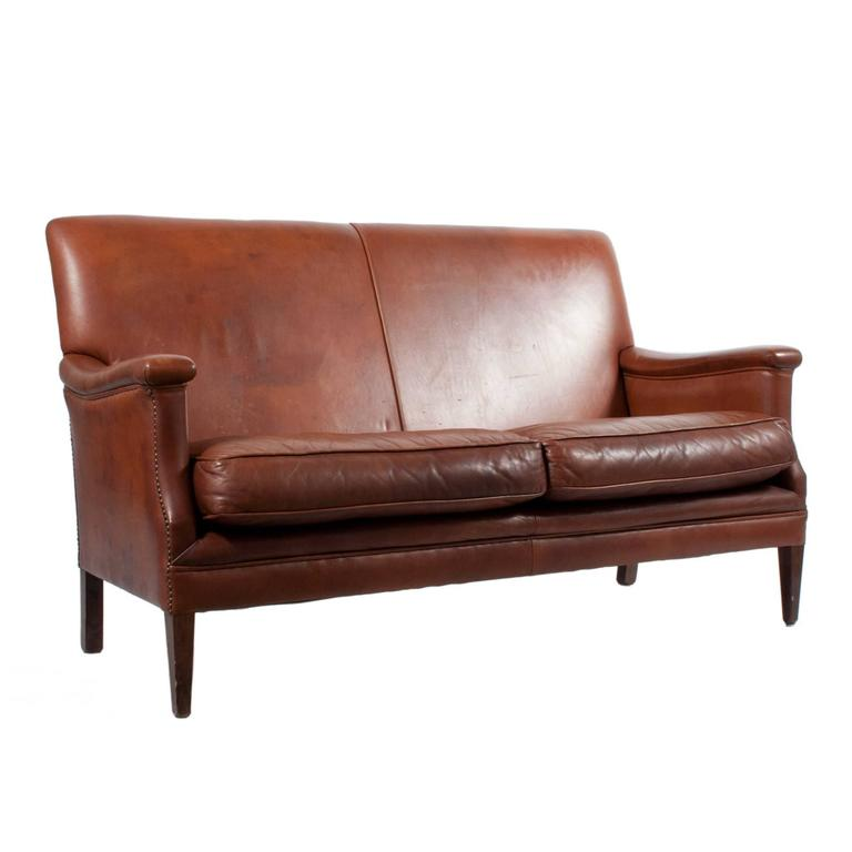Settee in leather for sale at 1stdibs for Settees for sale