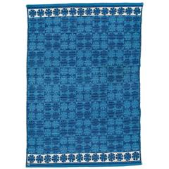 Vintage Swedish Flat-Weave Rug by Ingrid Dessau