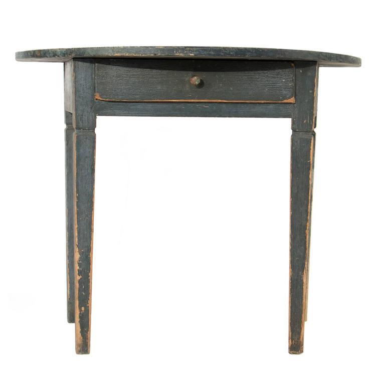 gustavian demilune table at 1stdibs. Black Bedroom Furniture Sets. Home Design Ideas