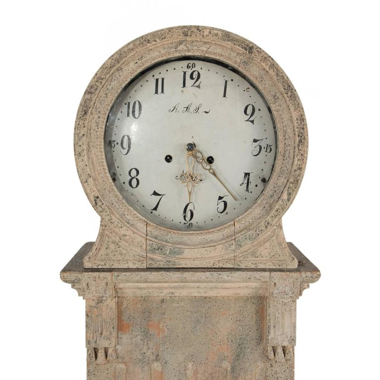 Gustavian Grandfather Clock 4
