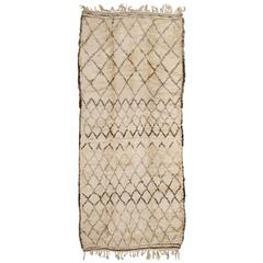 Vintage Rug by the Beni Ourain Tribe