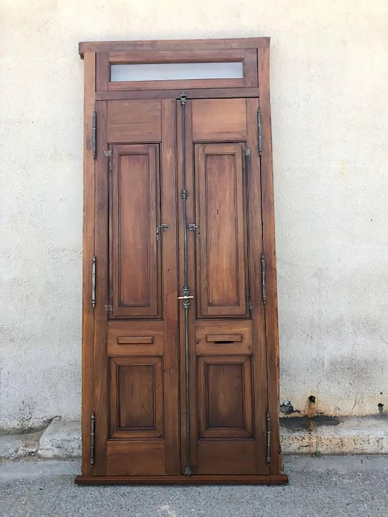 Charmant Antique Spanish Colonial Solid Teak Doors For Sale At 1stdibs