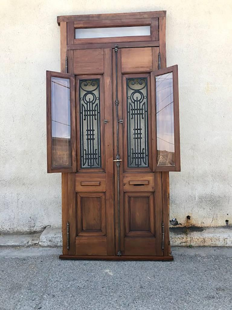 Carved Antique Spanish Colonial Solid Teak Doors For Sale - Antique Spanish Colonial Solid Teak Doors For Sale At 1stdibs