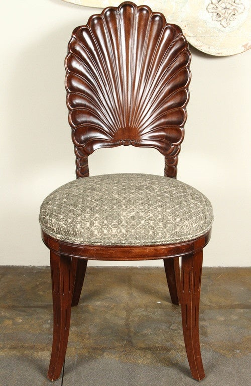 Carved shell back chairs for sale at stdibs