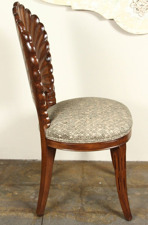 Carved shell back chairs at stdibs