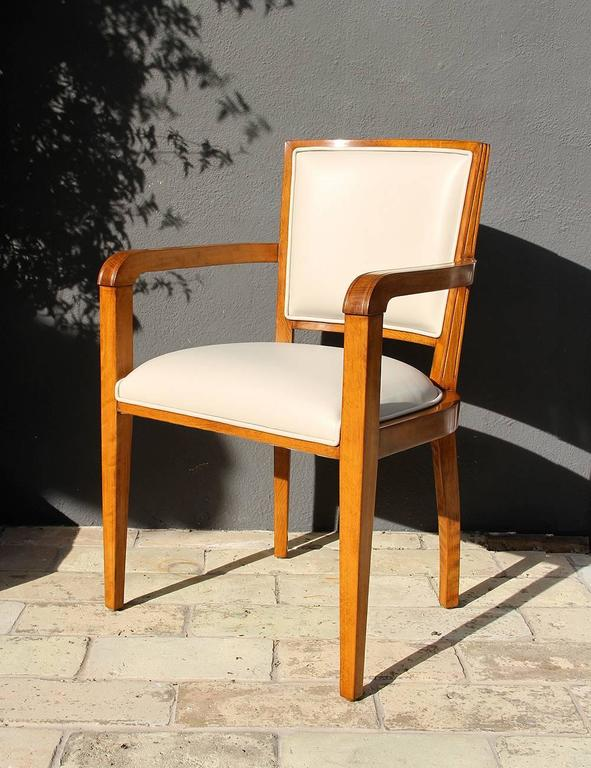 Mid-20th Century Art Deco Desk Chair from French Governmental Institute, 1940 For Sale