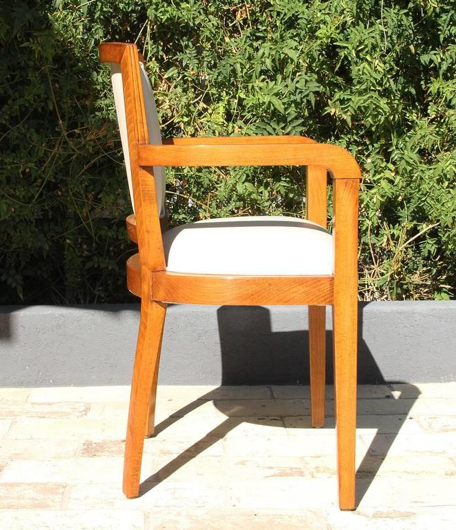 Art Deco Desk Chair from French Governmental Institute, 1940 In Excellent Condition For Sale In Los Angeles, CA