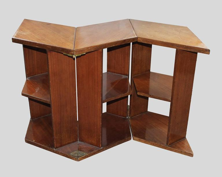 French Eugene Printz, Walnut Folding Bookcase Table, 1930 For Sale