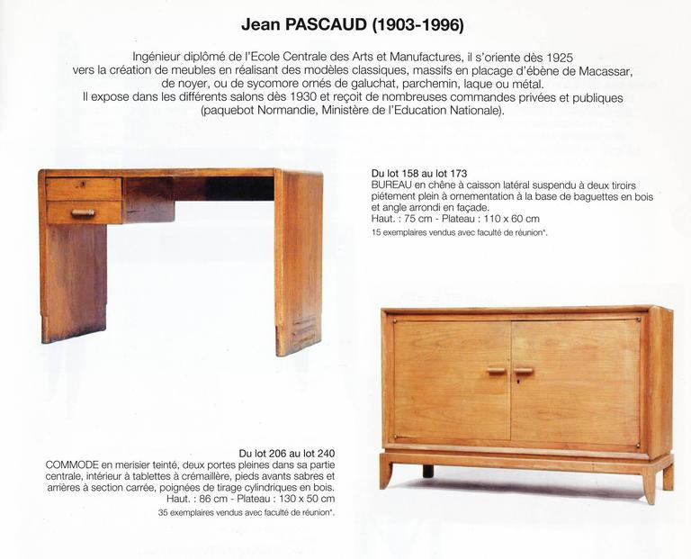 Jean Pascaud Oak Student Desk 1930 For Sale 2