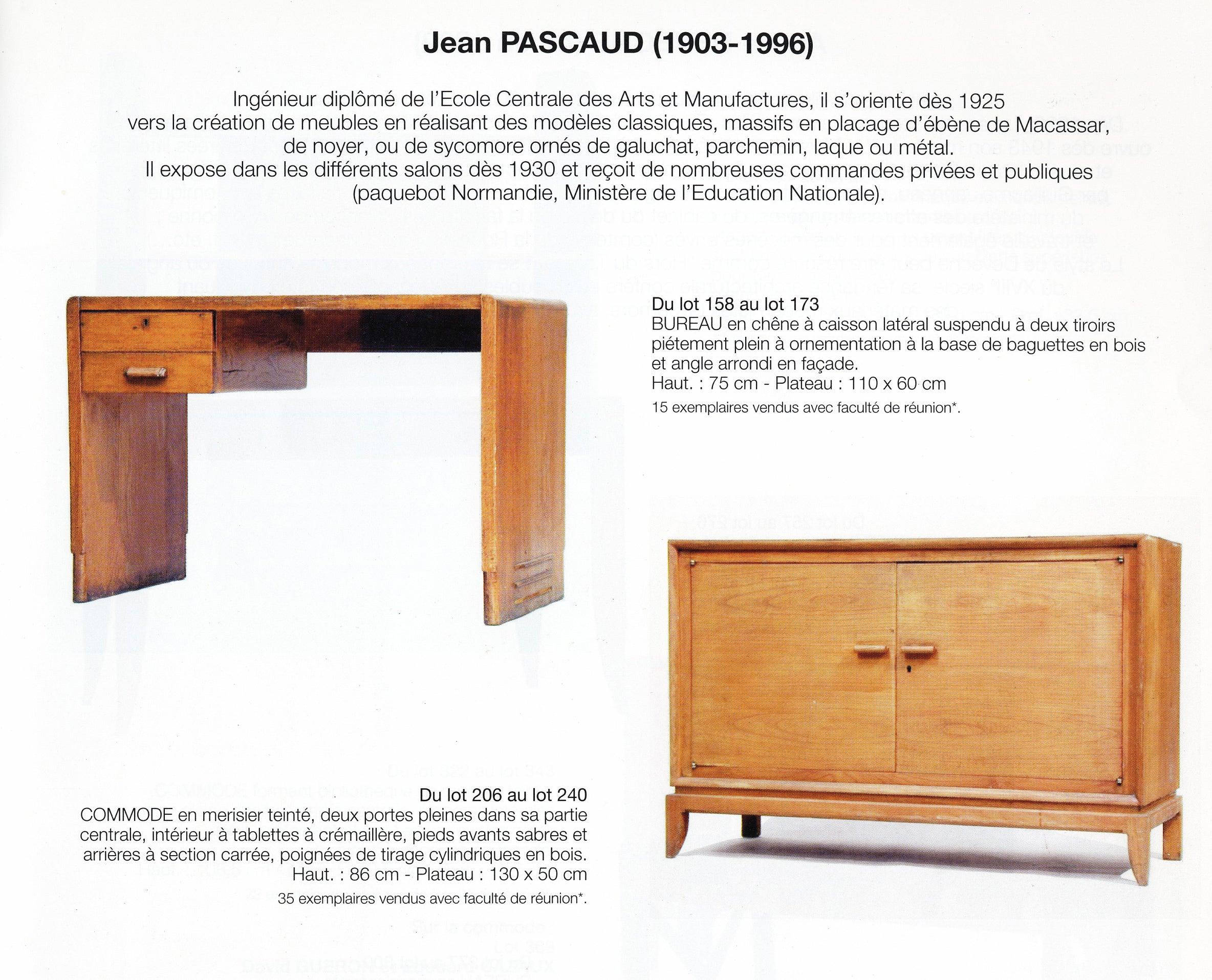 Baguette En Bois Decorative jean pascaud oak student desk 1930