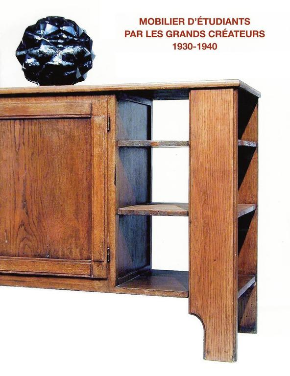 Jean Pascaud Oak Student Desk 1930 For Sale 1