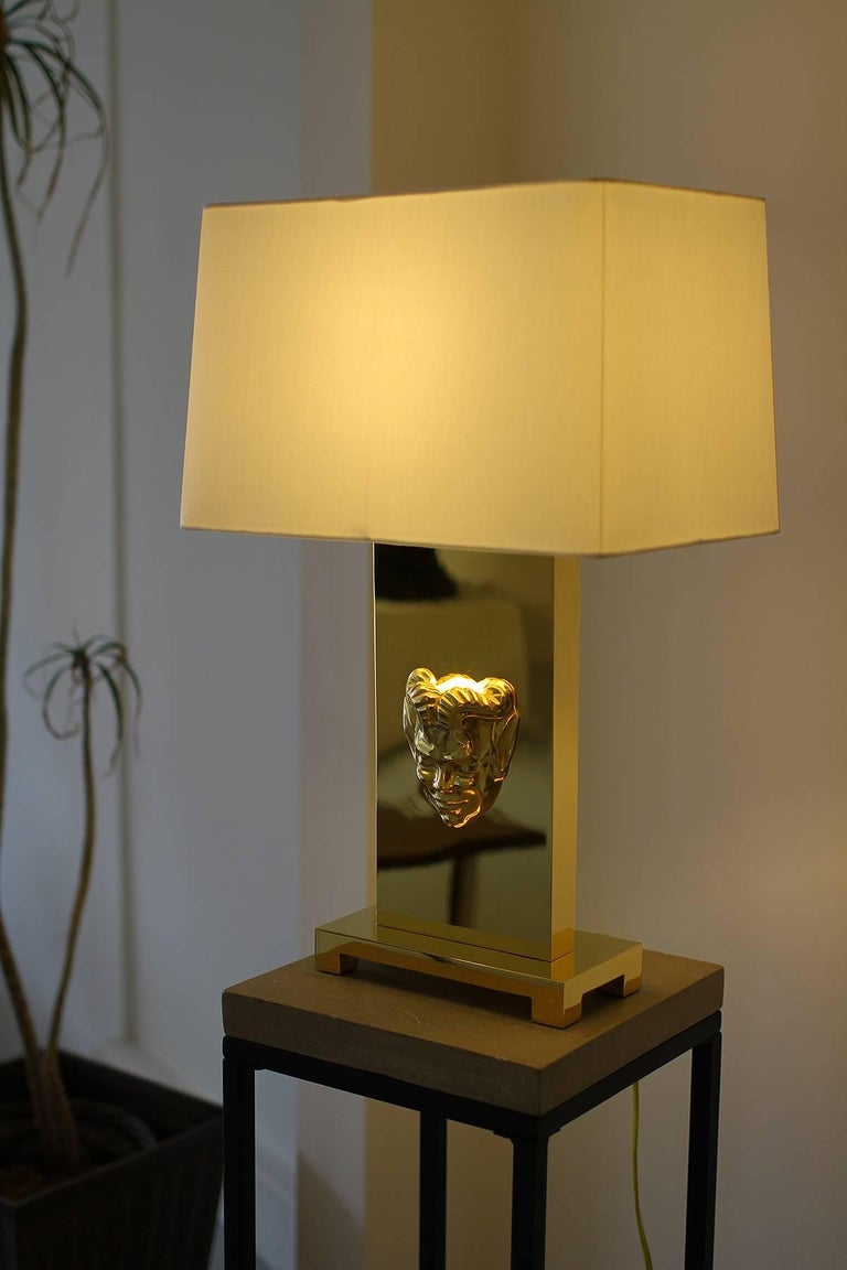 Philip Neri Pair of Gilt Bronze Table Lamps  In Excellent Condition For Sale In Los Angeles, CA
