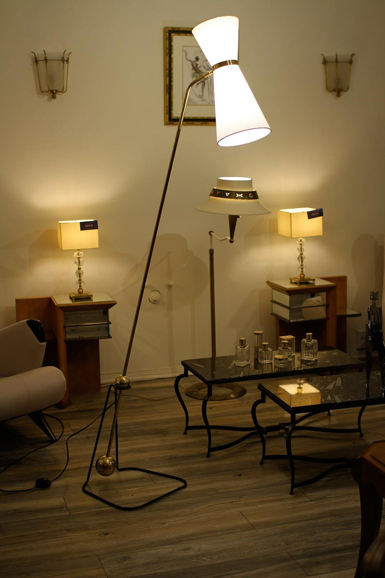 French Rare Floor Lamp, Model of Pierre Guariche, 1970 For Sale