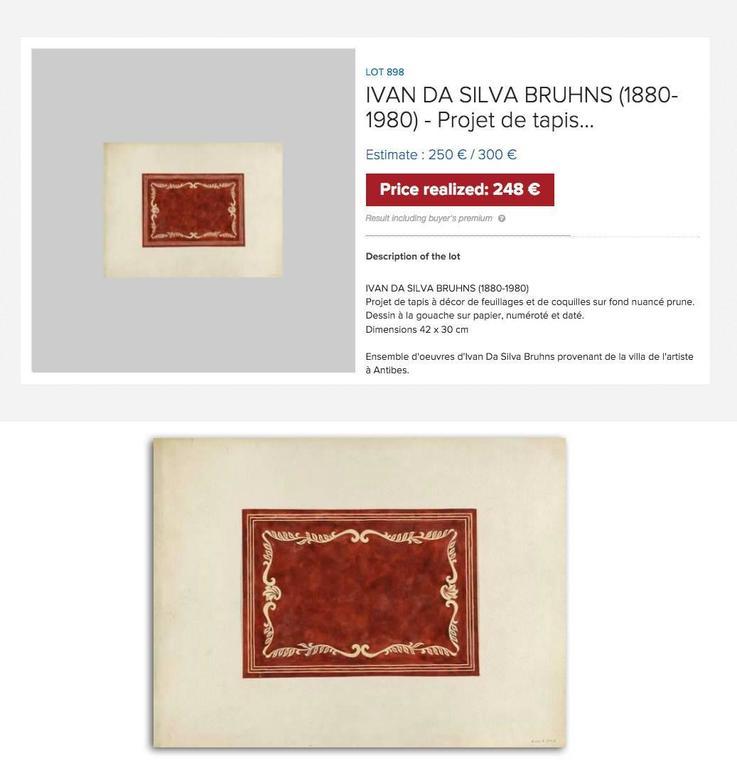 Ivan da Silva Bruhns for André Arbus Impressive Rug, 1938 7