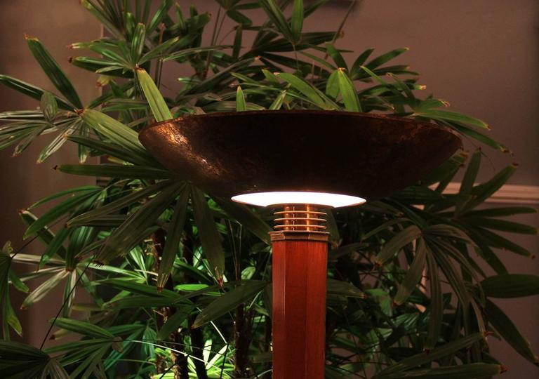 Genet & Michon for Dominique Floor Lamp 1945 In Good Condition For Sale In Encino, CA
