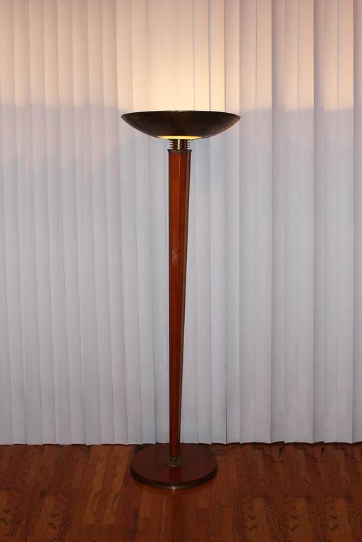 French  Genet & Michon for Dominique Floor Lamp 1945 For Sale