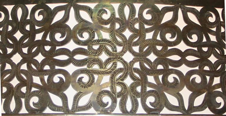4FT Diameter Bronze and Silk Chandelier, France, 1940 9
