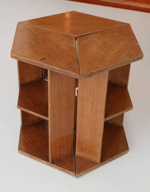 Mid-20th Century Eugene Printz, Walnut Folding Bookcase Table, 1930 For Sale
