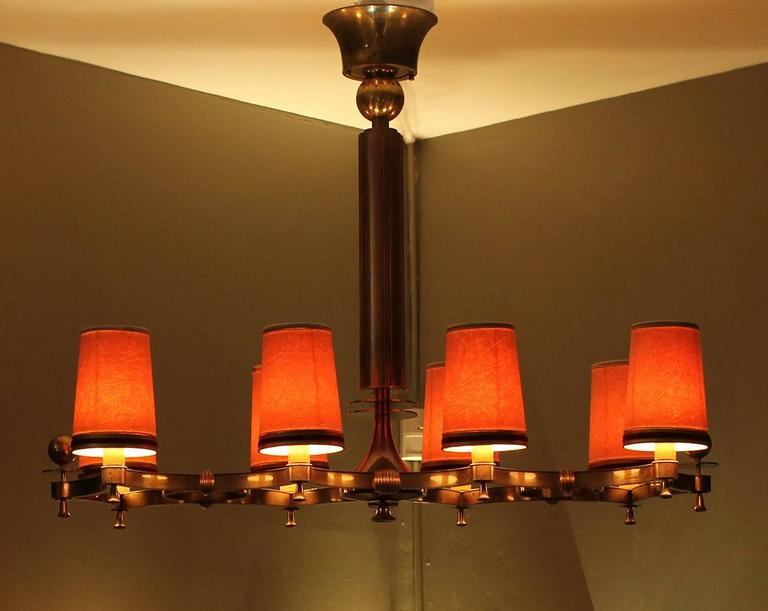 Exceptional Chandelier by Maxime Old, 1946 In Excellent Condition For Sale In Los Angeles, CA